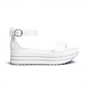 Sandalo bianco con fiocco Nero Giardini