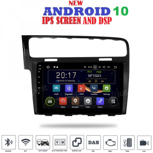 ANDROID 10 autoradio navigatore per Volkswagen Golf 7 2013-2018 GPS WI-FI Bluetooth MirrorLink