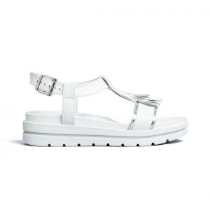 Sandalo bianco con frangia Nero Giardini