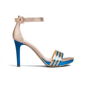 Sandalo oro/azzurro Nero Giardini