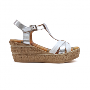 Sandalo bianco/argento Raquel Perez