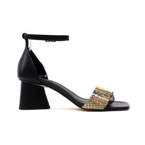 Sandalo nero/pitone Tosca Blu