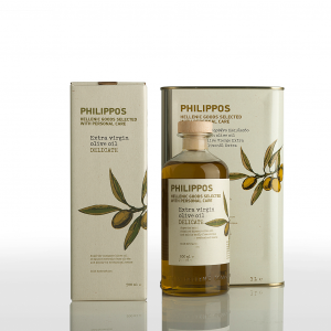 PHILIPPOS DELICATE Extra Virgin Olive Oil 500ml + 3L