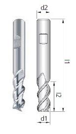 Fresa UM0 Z3-4 HSS-E Co8