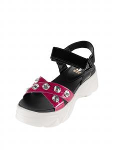 Sandalo Jeannot 40052FZP15PU/PUD970 Nero/Fuxia