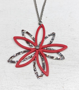 COLLANA LUNGA RED FLOWER