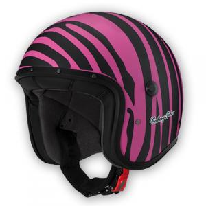 Casco Jet Caberg Freeride Marty nero opaco rosa