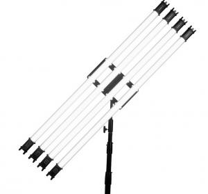 Piastra Holder per 4 Tubi Pavolite con Testa a Sfera