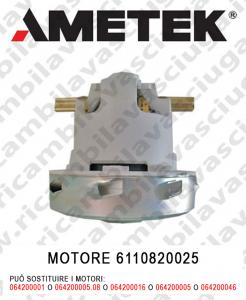 Motore aspirazione AMETEK ITALIA 6110820025 per lavapavimenti e aspirapolvere