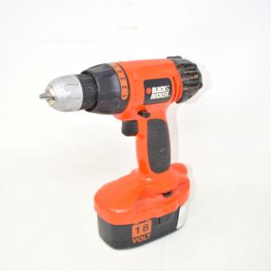 Avvitatore Black & Decker 18 Volt Arancione E Nero