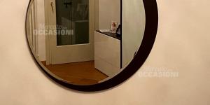 Speccio Rotondo In Legno Marrone