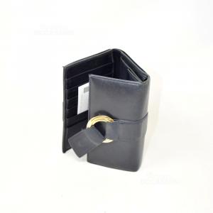 Portafoglio Donna Cartier Paris In Pelle Nero (un Pò Usurato)