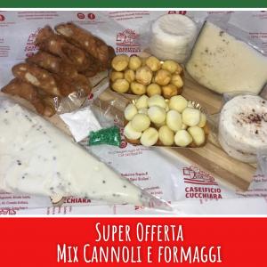Super Offerta Mix Cannoli e Formaggi Siciliani - Caseificio Cucchiara Sicilia