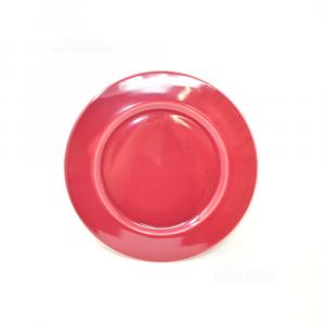 Piatto Ceramica Rosso 31cm