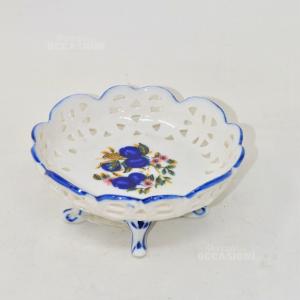 Alzatina In Ceramica Fiori