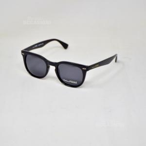 Occhiali Da Sole Ferrè GF79001 Nero Lucido Il Classico Lente Nera