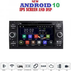 ANDROID 10 autoradio 2 DIN navigatore per Ford Focus Mondeo C-Max S-Max Galaxy Transit Fiesta Fusion Kuga GPS DVD WI-FI Bluetooth MirrorLink