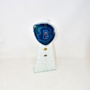 Orologio Da Tavolo Con Pietra Blu Grande