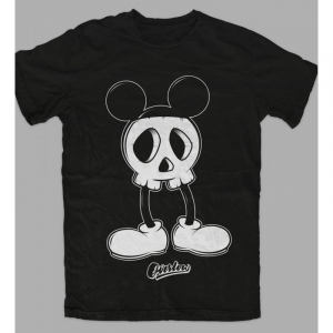 T-Shirt MICKEY SKULL for woman - Nera e Bianca