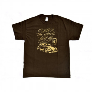 T-Shirt KAFER for man - Marrone/Oro