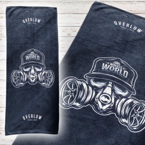 Gym Towel Overlow SKULL GAS - Blu