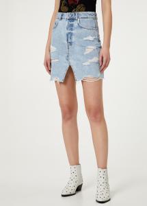 LIU JO minigonna jewel jeans FA0351D4343