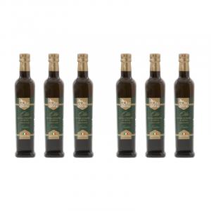 Olio EVO Frantoio 500ml 2019/20- Olio extravergine di oliva Pugliese cultivar Frantoio Sante 6 bottiglie da 500 ml - Terre di Ostuni