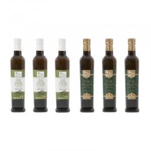 Olio Evo Ogliarola e Frantoio 500ml 2020/21 - Olio extravergine di oliva Pugliese cultivar Ogliarola e Frantoio Sante 6 Bottiglie da 500 ml - Terre di Ostuni