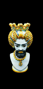 Moro Head with Turban Man from Caltagirone