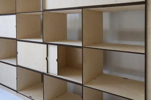 AYMARA 4 - La libreria di libera configurazione. Modulo da 4 vani