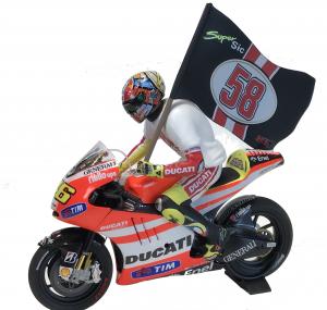 Ducati Desmosedici Gp11.2 Valentino Rossi Ducati Team Moto GP Valencia 2011 Tribute to Marco 1/12