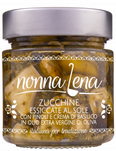 Zucchine essiccate al sole con pinoli e crema di basilico Nonna Lena