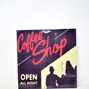 Insegna In Latta Smatata 30x30 Coffee Shop