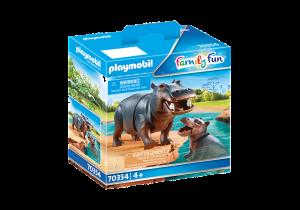 PLAYMOBIL  IPPOPOTAMO CON CUCCIOLO 70354