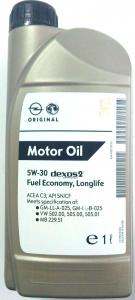 Olio GM 5W30 dexos2 LL4, lt 1,