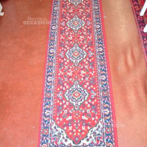 Tappeto Corsia Rosso 220*47 Cm