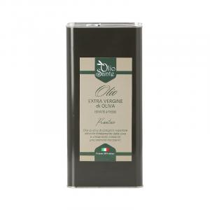 Olio EVO Frantoio 5L 2019/20 - Olio extravergine di oliva Pugliese cultivar Frantoio Sante in Latta da 5 Litri - Terre di Ostuni