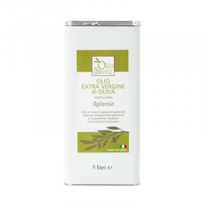 Olio EVO Ogliarola 5L 2019/20 - Olio extravergine di oliva Pugliese cultivar Ogliarola Sante in Latta da 5 Litri - Terre di Ostuni