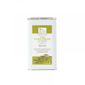 Olio EVO Ogliarola 1L 2019/20 - Olio extravergine di oliva Pugliese cultivar Ogliarola in Latta da 1 Litro - Terre di Ostuni