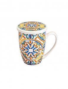 Tazza mug con filtro decoro Medicea di Brandani