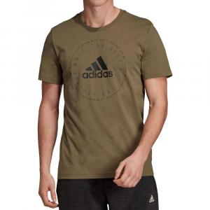 Adidas T Shirt Logo Olivine da Uomo