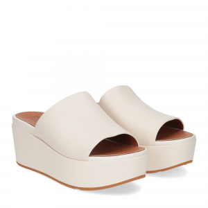 Fitflop Eloise leather wedges stone