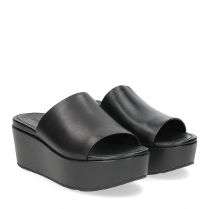 Fitflop Eloise leather wedges all black