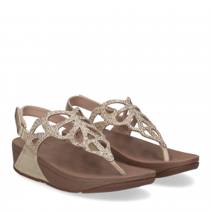 Fitflop Bumble Crystal sandal gold