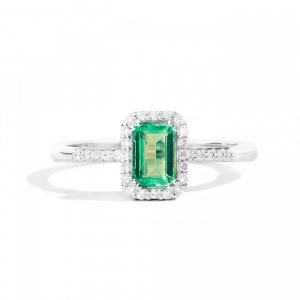 ReCarlo Anello Gemma - Smeraldo rettangolare -