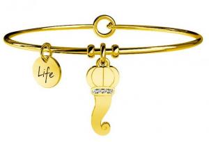 Kidult Bracciale Symbols, Life, CORNETTO | PROTEZIONE - Pvd oro