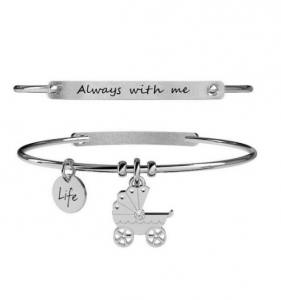 Kidult Bracciale Special Moments, Life, CARROZZINA | ALWAYS WITH ME