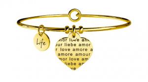 Kidult Bracciale Love, Life, CUORE | AMORE SENZA CONFINI