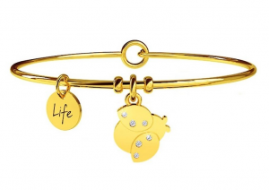Kidult Bracciale Animal Planet, Life, COCCINELLA | FORTUNA - Pvd Gold
