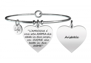 Kidult Bracciale love, Life, L'AMICIZIA È UNA SOLA ANIMA... ARISTOTELE
